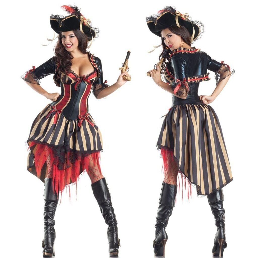 Pirates of the Caribbean - New Womens Pirate of the Caribbean Halloween Costume Fancy Party Dress
