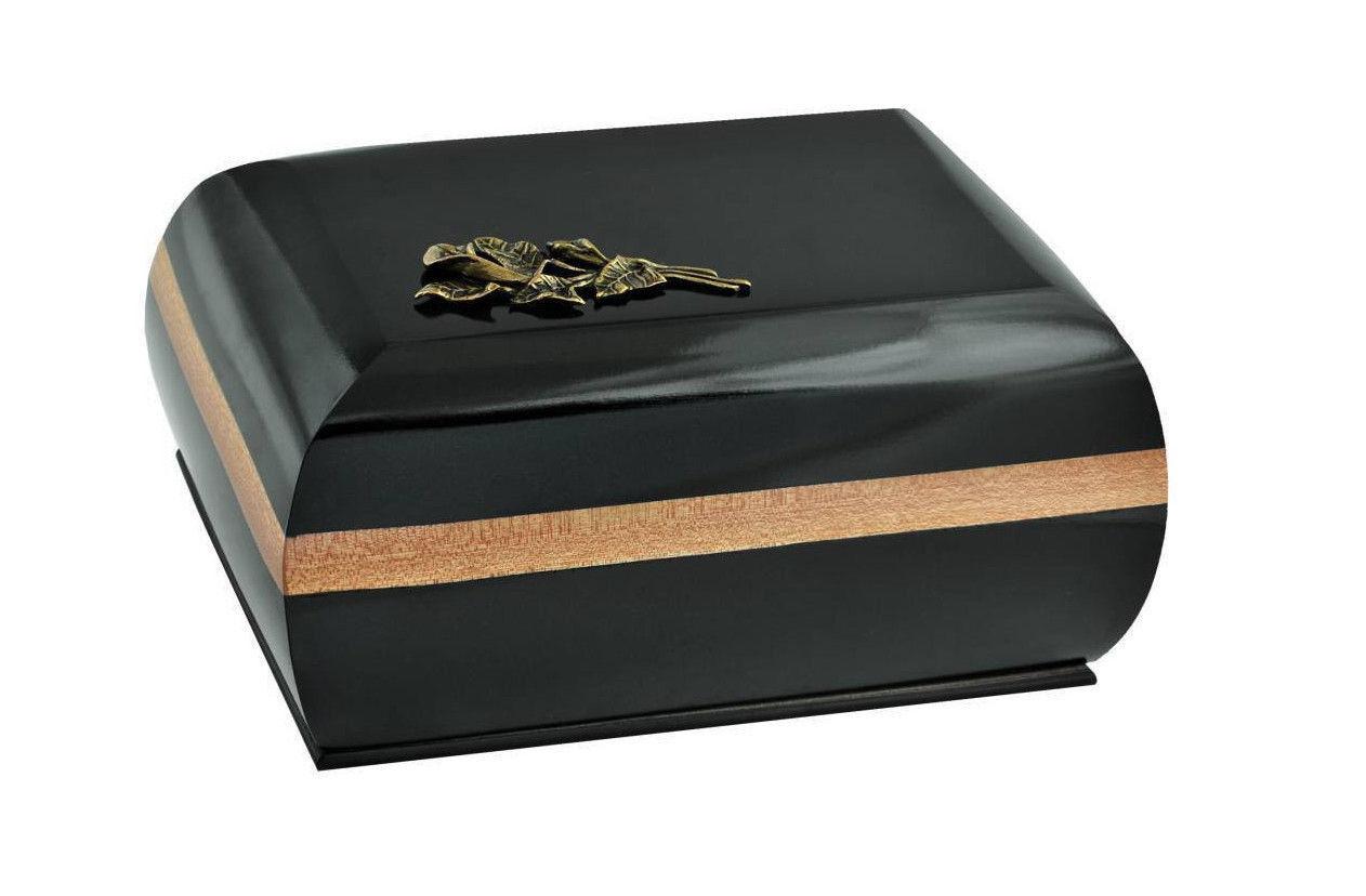 Commemorativo Scrigno con Ottone Calla Lily.cremation Urna per Adulti,Funerale