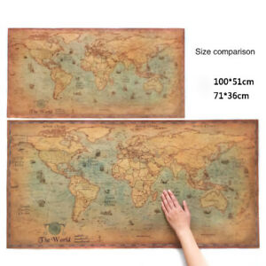 The old world map large vintage style retro paper poster home decor image is loading the old world map large vintage style retro gumiabroncs Image collections