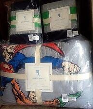 Pottery Barn Kids Justice League batman superman FULL QUEEN quilt shams