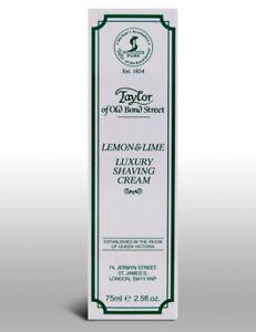 Taylor-Of-Old-Bond-Street-Lemon-amp-Lime-Mens-Travel-Shave-Shaving-Cream-75ml-Tube