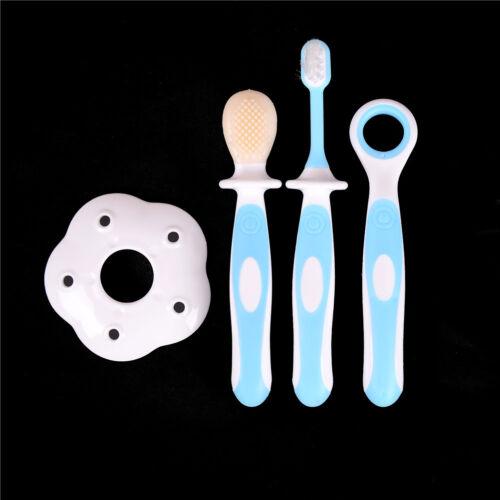 Child training toothbrush combination infant soft teeth brush care silicone TK