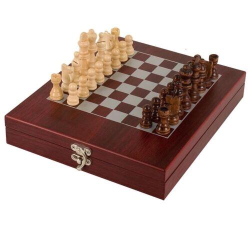 Rosewood Finition Chess Set taille 23.5 cm x 28 cm x 4.75 cm Gravure Gratuite 30/% Off