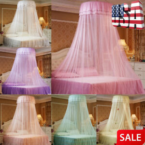 Portable-Round-Curtain-Dome-Bed-Canopy-Mosquito-Net-Netting-Princess-Mesh-Net-US