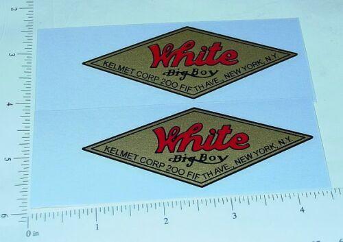 Kelmet White Big Boy Diamond Logo Stickers         KM-001