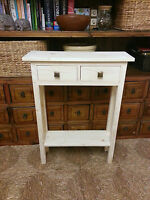 H90 W60 D20cm Bespoke Untreated Console Hall Phone Plant Bedroom Table + Drawers