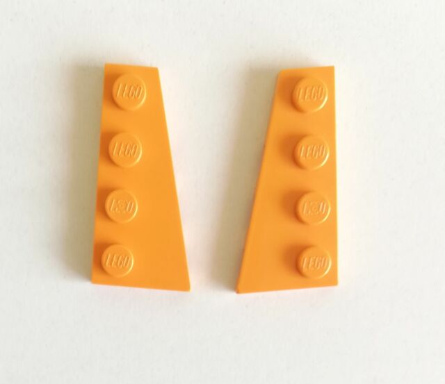 LEGO Lot of 4 Pair of Yellow 4x2 Wedge Plates