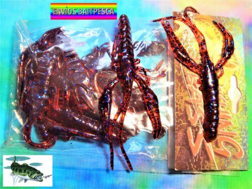 SAMA FISHING Cangrejos de vinilo Pesca Black Bass Lucio FISHING BASS
