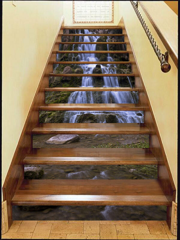 3D Cascade tree 357 Stair Risers Decoration Photo Mural Vinyl Decal Wallpaper UK