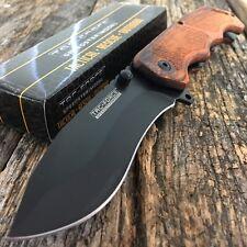 "8.25"" TAC FORCE WOOD Tactical Spring Assisted Open FOLDING BLADE Pocket Knife -M"