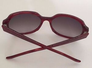 40611fc2bf352 Image is loading Judith-Leiber-Sunglasses-Ruby-Swarovski-Crystals-Along-Top-