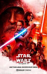 "11/"" x 17/"" The Last Jedi poster Star Wars movie poster c"