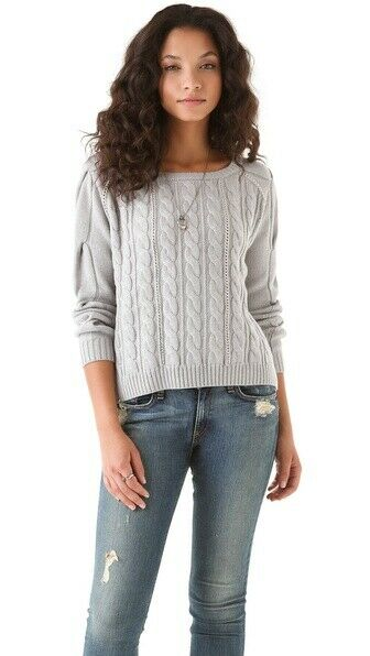 Haute Hippie cable knit and chain sweater jumper M L NWT  445