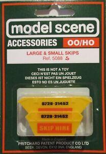 Yellow 5088 Modelscene OO//HO Gauge Skips no name Large /& small 1 of each