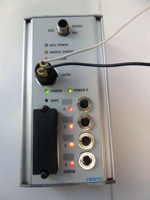 FESTO 24VDC FIELD BUS CONNECTOR NODE CP-FB13-E