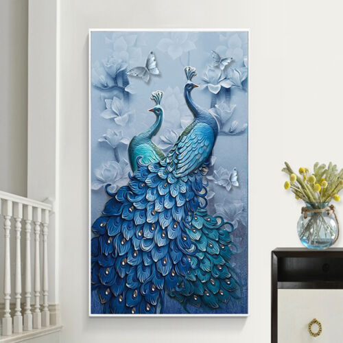 Drill 5D Peacock DIY Crystal Diamond Embroidery Painting Cross Stitch Home Decor