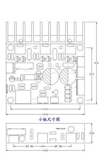 1PCS TDA2030A 2.1 Stereo Audio Amplifier 3 Channel Subwoofer Bass Amplifier Boar