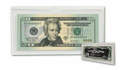 10 BCW Currency Banknote Snaplock Bill Slabs Holders Regular Dollar Modern Notes