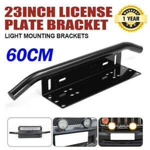 Number-Plate-Bullbar-Frame-Mounting-Bracket-Mount-Light-Bar-Antenna-UHF-Holder