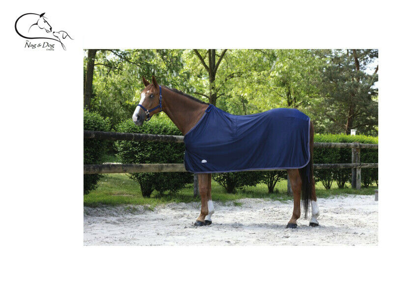 Equitheme Microfleece Rug SHEET NAVY  Cooler Travel Stable FREE DELIVERY  sale