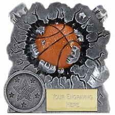 A1549A JOB LOT X 12 RESIN BASKETBALL TROPHIES SIZE 7.5CM FREE ENGRAVING