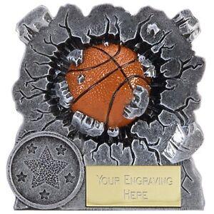 A1549a Résine Basketball Trophy Taille 7.5 Cm Gravure Gratuite-afficher Le Titre D'origine