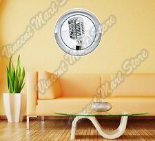 "Radio Microphone Karaoke Retro Gift Wall Sticker Room Interior Decor 22""X22"""