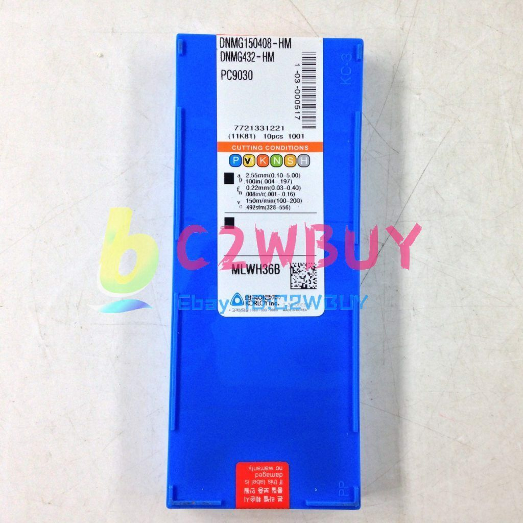 NEW 10PC DNMG150408-HM PC9030 DNMG432-HM 90Day Warranty [hrm]