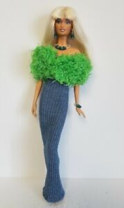 Model-Muse-Barbie-Clothes-STOLE-DRESS-amp-JEWELRY-Fashionistas-Fashion-NO-DOLL-d4e