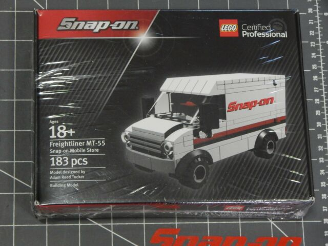 snap on tools lego set freightliner delivery truck van mobile mt-55 ...