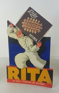 Advertising-Cardboard-Antique-For-All-Wafers-Rita-Design-Of-Leon-Lupin