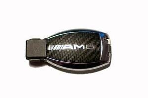Mercedes-W164-ML-AMG-SL-500-R230-W211-W212-W207-Carbon-key-sticker-Chrome-AMG