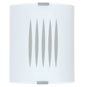 EGLO-83132-GRAFIK-APPLIQUE-LINEE-V-BIANCO-SERIGRAFATO