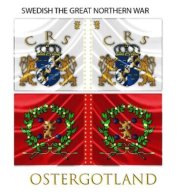 28mm Great Northern Wars Swedish Flag Ostergotland Ebay