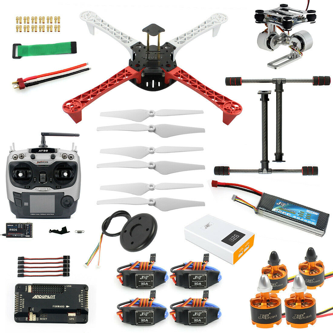 Qwinout Qwinout Qwinout 450mm KIT de Hágalo usted mismo Quadcopter marco CW CCW MOTOR + 9433 hélices  salida