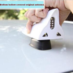 ANTENNA-solare-anti-taglio-della-coda-segnale-LED-Pinna-Di-Squalo-Antenna-SPIA-BIANCO