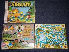 1981 THE SMURFS CARTOON 3D BOARD GAME FOR PARTS