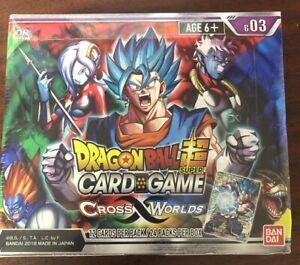 BANDAI DRAGON BALL SUPER TCG Card Game CROSS WORLDS BOOSTER BOX B03 SEALED