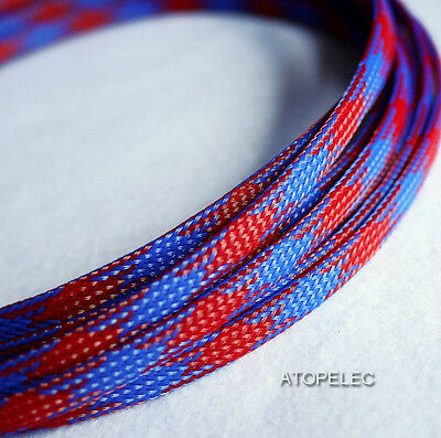 Mix Color 3MM~16MM TIGHT Braided PET Expandable Sleeving Cable Wire Sheath