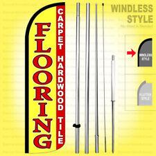 Flooring Carpet Hardwood Tile Windless Swooper Flag Kit 15 Feather Sign Yz H
