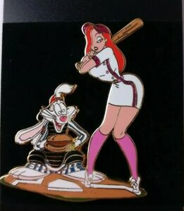 Disney-Auctions-BASEBALL-Series-ROGER-amp-JESSICA-Rabbit-Jumbo-Pin-LE-100-WDW-DLR