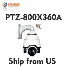 "7"" PTZ Speed Dome 700TVL Camera 360X Zoom Outdoor Fill Light IR 650ft AC24V 360A"