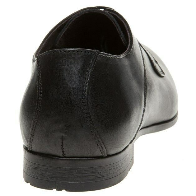 MENS SOLE SOLE SOLE BORDEY LEATHER schuhe schwarz SMART FORMAL CASUAL LACE UP UK Größe 9 - NEW 5a8377