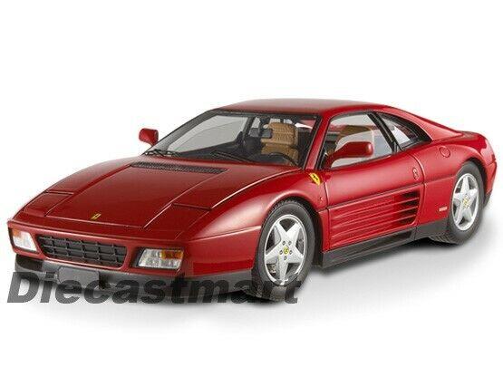 wholesape barato Hotwheels Elite V7436 1 18 Ferrari 348 TB Nuevo Coche Coche Coche Modelo Diecast Rojo  entrega de rayos
