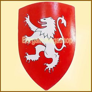 Rampant Lion Medieval Knight Heater Shield Armour Brand New Reenactment