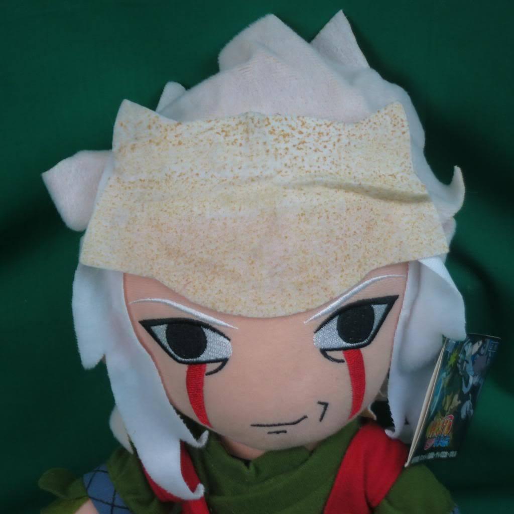 2007 NEW 2008 NARUTO PLUSH BLONDE DOLL rosso verde SHIRT jiraiya PLUSH Soft toy