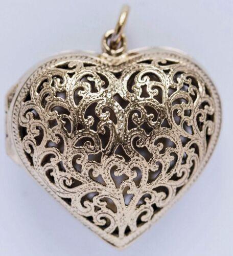 zauberhaftes Medaillon Heart of Angel z Öffnen Elfen Arwen Herz Anhänger Bronze