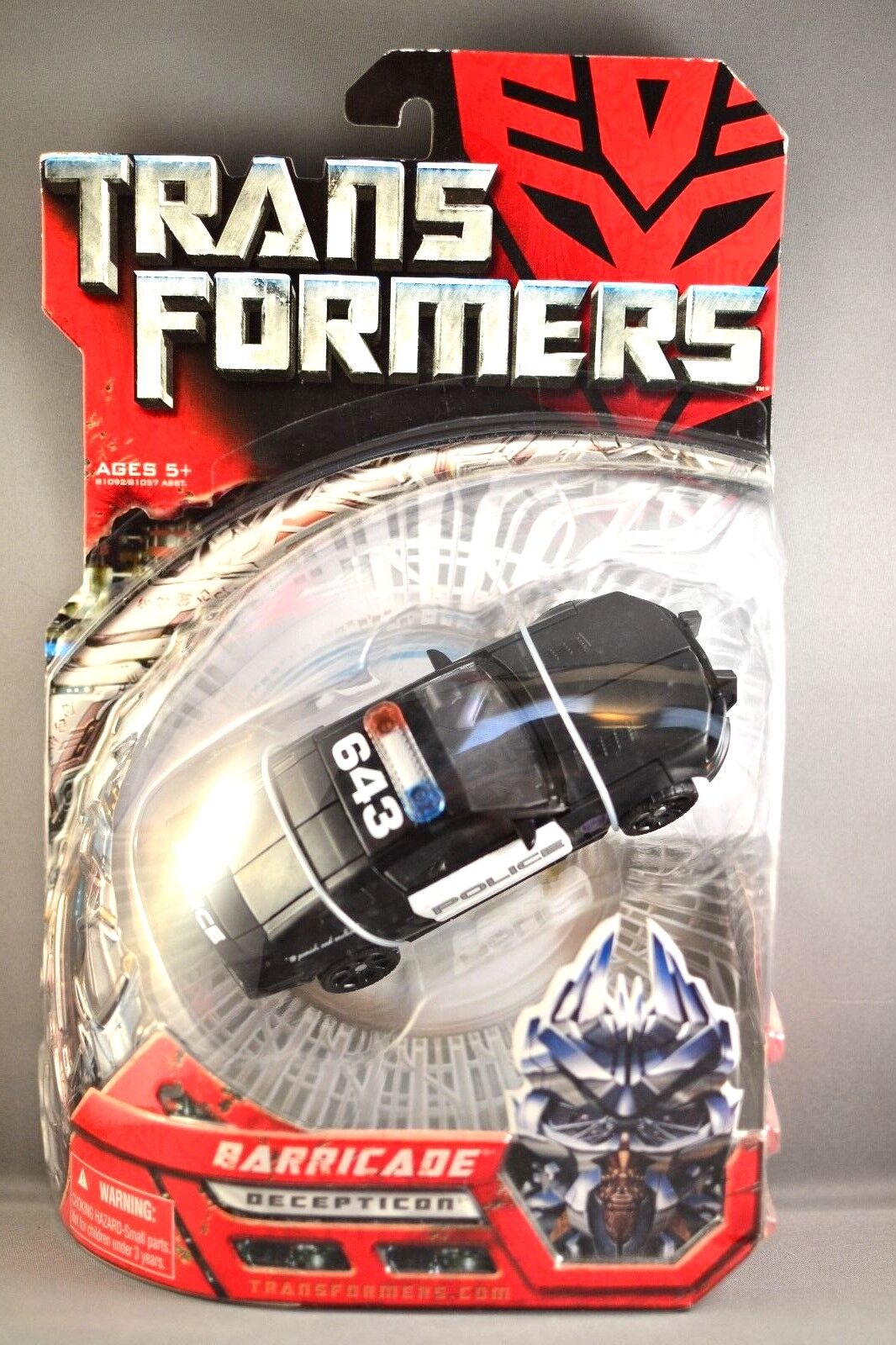 Hasbro Transformers Movie Deluxe Barricade Action Figure 2007 BRAND NEW SEALED