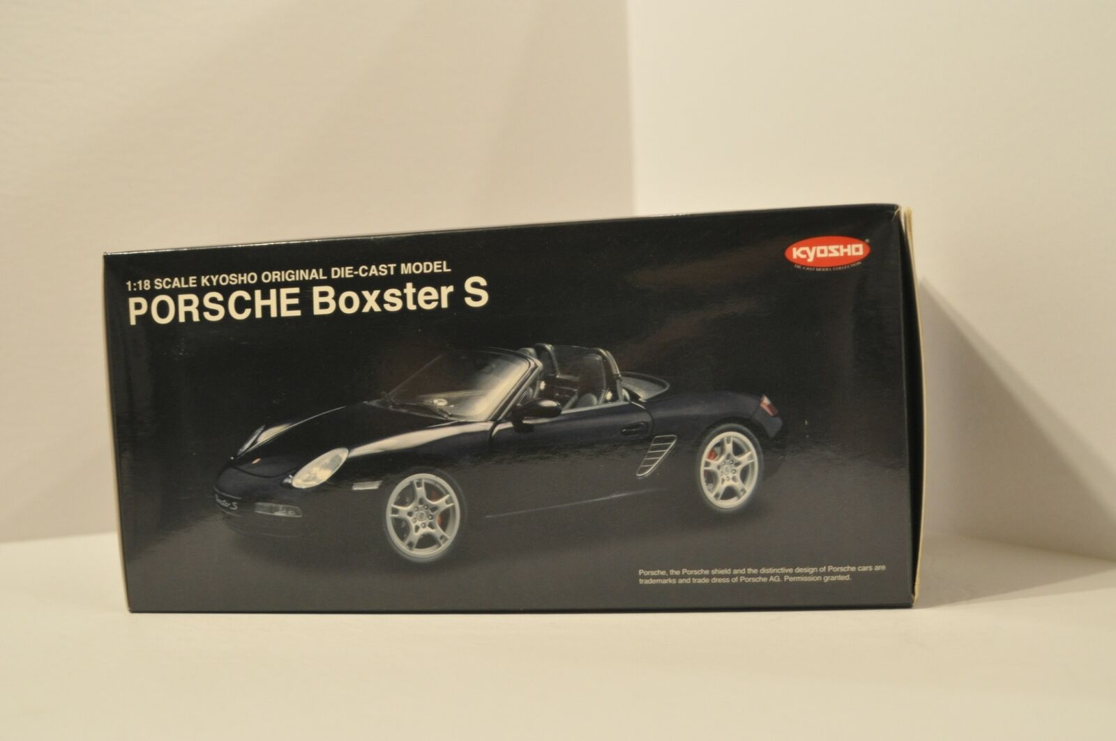 Porsche Boxster S Black 1 18 Diecast Kyosho