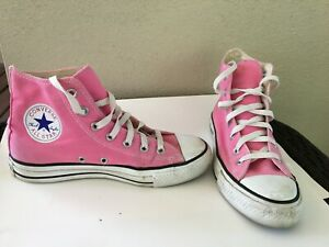 Details about Pink Converse All Star Chuck Taylor Shoes Canvas Hi Top Mens 5.5 Womens 7.5